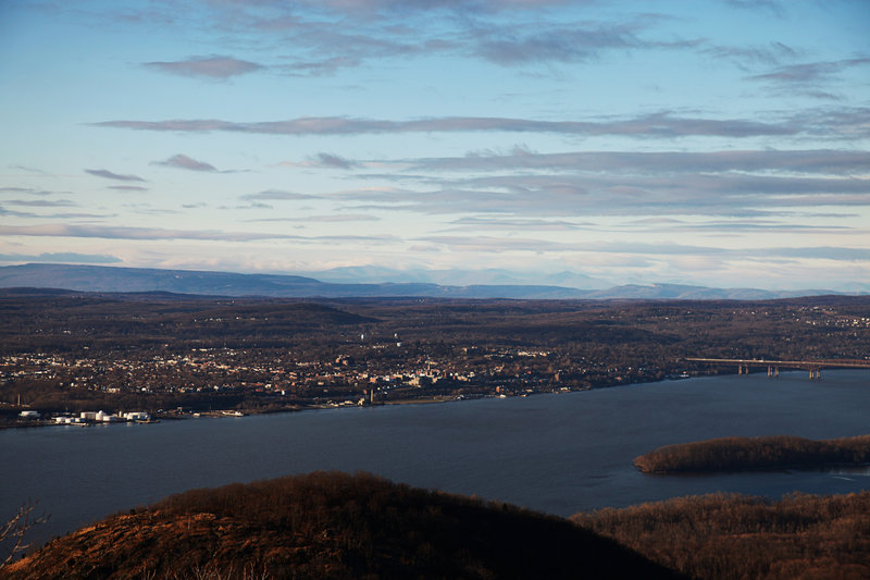 View of the Catskills from the top