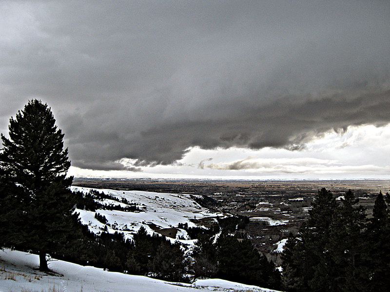 Bozeman as seen from Drinking Horse Mountain.