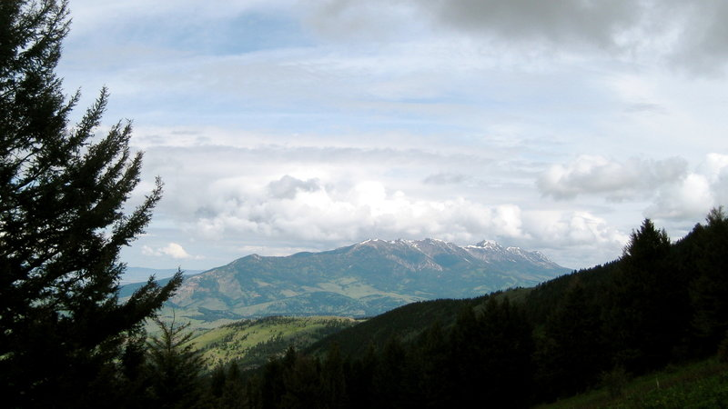 The Bridger Mountain Range