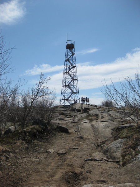 Some runners climb South Beacon Mountain Fire Tower