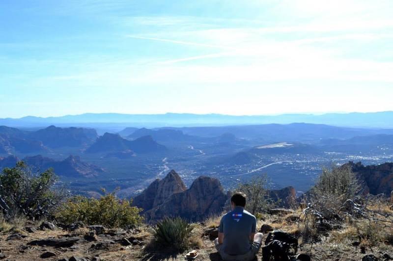 The view of Sedona form Wilson mountain.