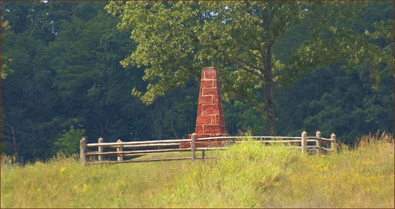 Union Groveton Monument at the Deep-Cut -- Manassas National Battlefield Park