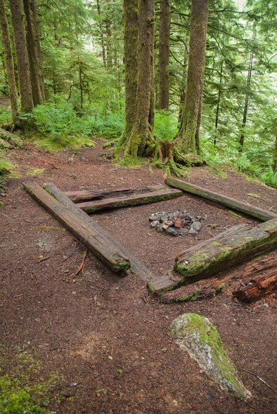 Fire pit / resting ground