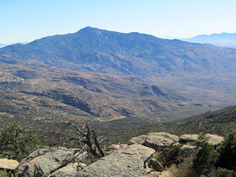 View of the Rincons from Tanque Verde Peak