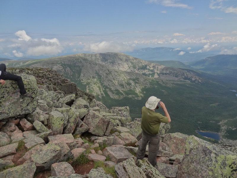 Katahdin summit from the Saddle Trail