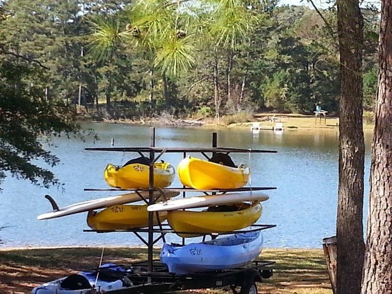 SUPs and Kayaks at Alexander Lake.