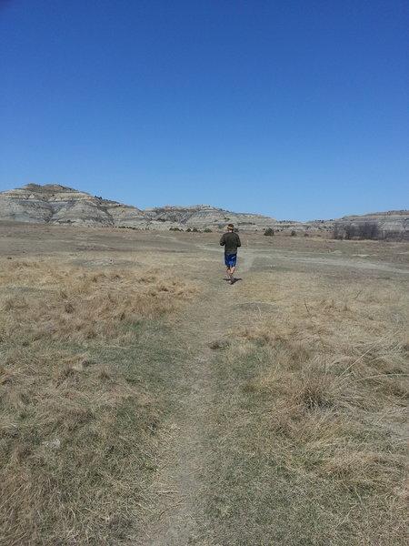 Running through Prairie Dog Town on the Buckhorn Trail
