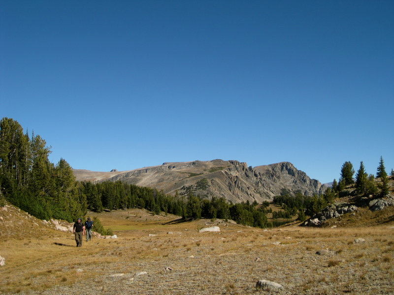 Hiking away from Chalice Peak.