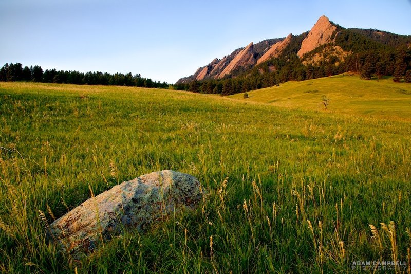 Morning at the Flatirons.
