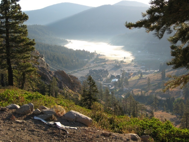 Looking down at Squaw Valley fog