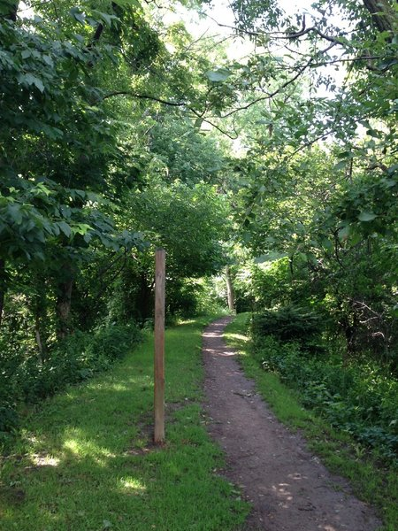 The start of Iron Gate Trail