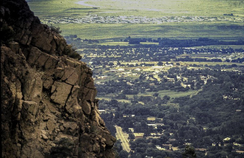 Looking down on Colorado Springs.