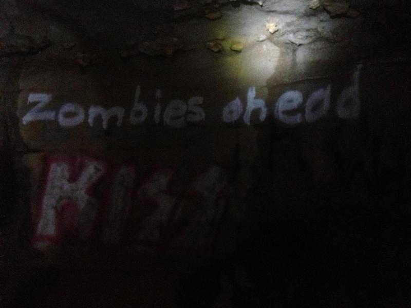 Graffiti inside of Rock House Cave