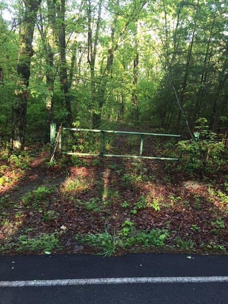 Green Mountain Log Trail entrance.