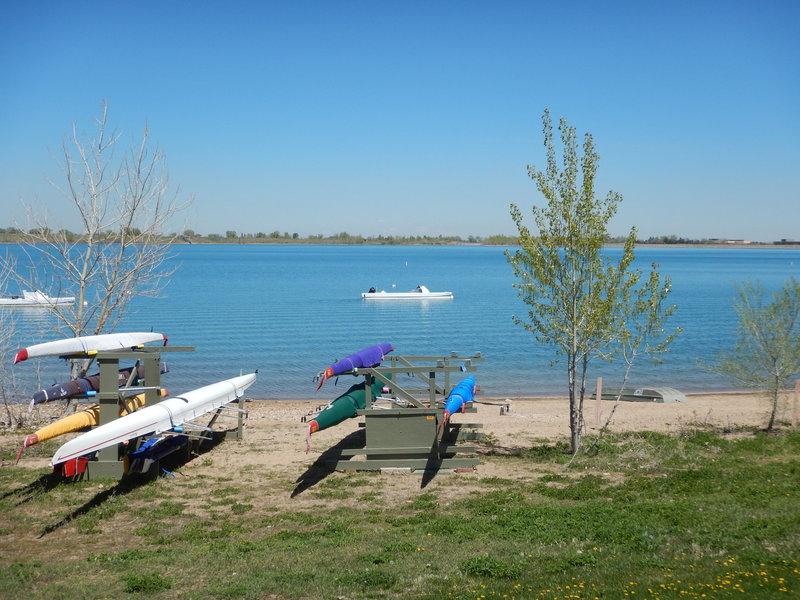 Boat racks at Boulder Reservoir