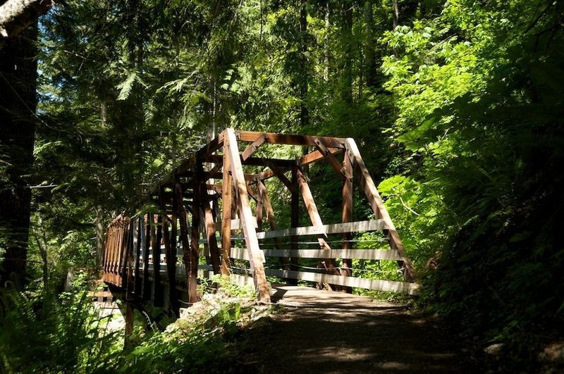 Wooden bridge for accessibility