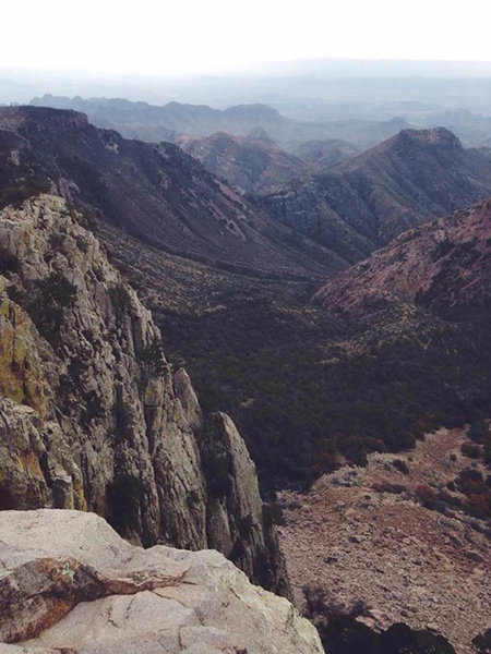 south west view off of Emory Peak (I can see Mexico from here!). One of my favorite photos from the trip.