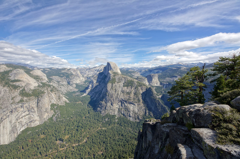 The view to Half Dome.