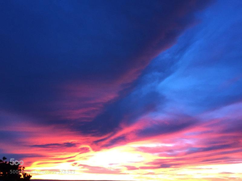 Sunset at Pima Point.