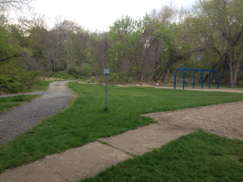 Playground access along the Long Branch Trail