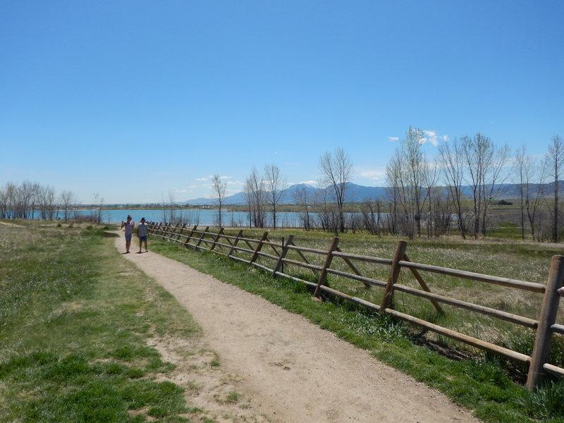 Near the entrance of the Boulder Reservoir Trail