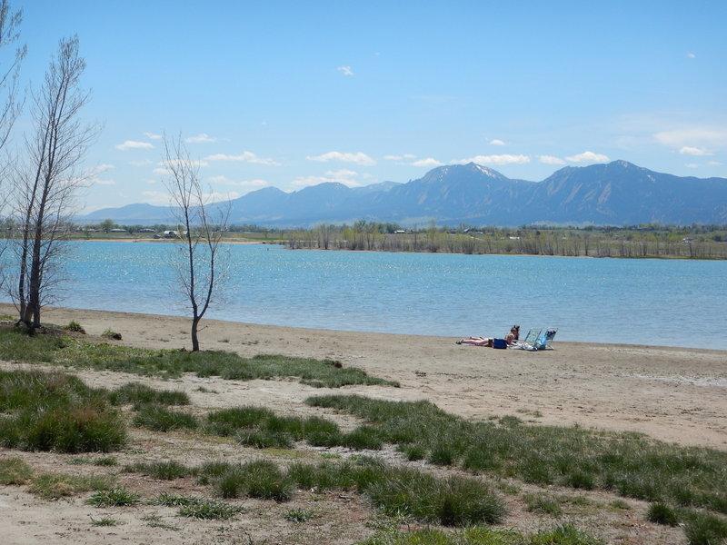 """The """"beach"""" at Boulder Reservoir"""