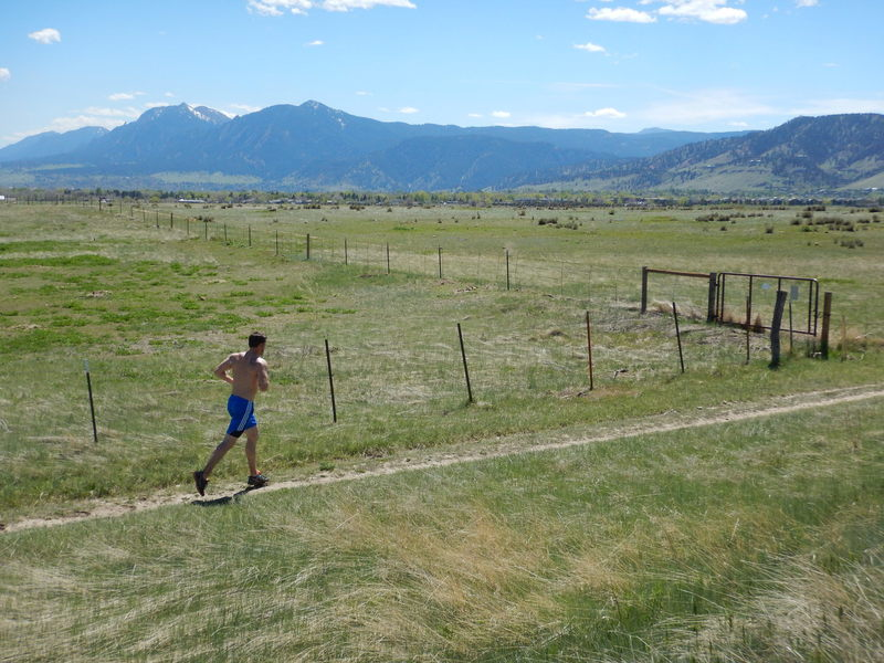 Enjoyable running on the Mesa Reservoir Trail