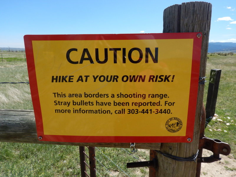 Yes, the Hidden Valley Trail traverses a hill above an active shooting range... beware