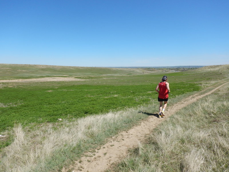 Running along the broad Hidden Valley