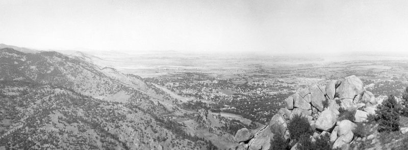 Boulder panorama from the Boy Scout Trail