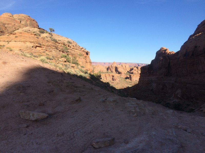 Great views at the end of the canyon from the Pritchett Canyon Trail