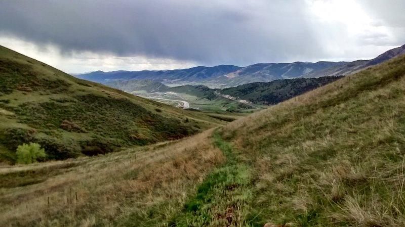 Nice views of Dakota Ridge and the mountains behind it.