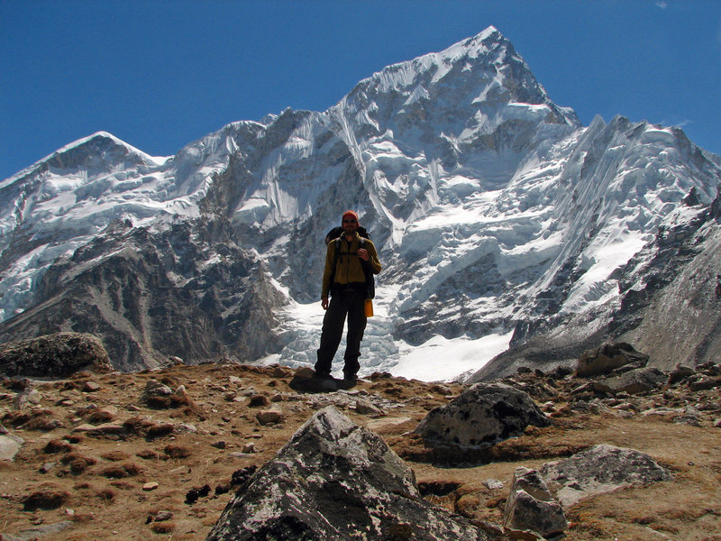 In front of Nuptse