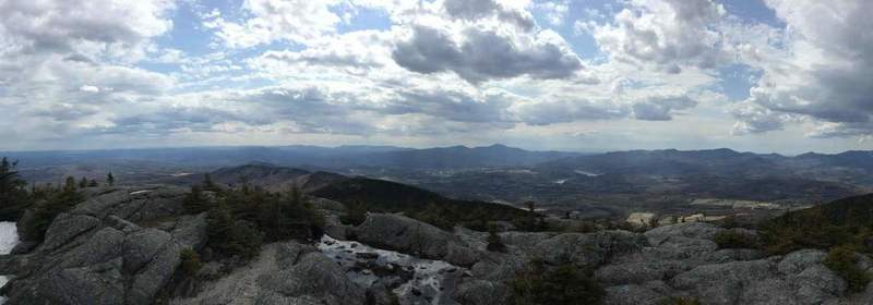 Western View from the summit of Mount Hunger