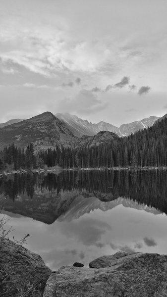 Shot form the North Side of Bear Lake facing towards Long's Peak