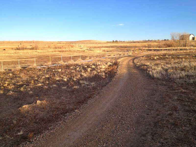 The plains on the easternmost section of the Mayhoffer Singletree Trail.  This section of trail is smooth and wide.