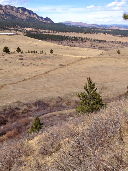 Overlook on the highest section of trail - looking out across the Marshall Mesa trail system.
