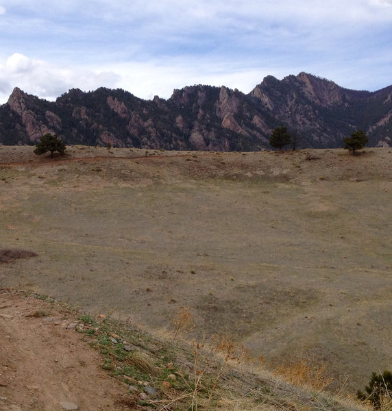 Flatirons right over your shoulder!