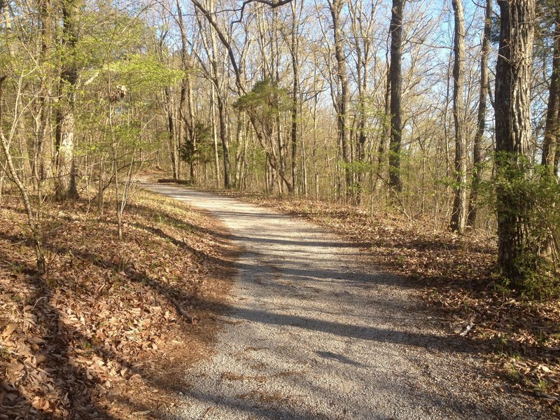 Flat course on the Family Bike Trail on Monte Sano