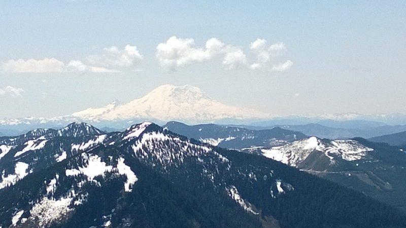 Mt Rainier as seen from Granite Mt.