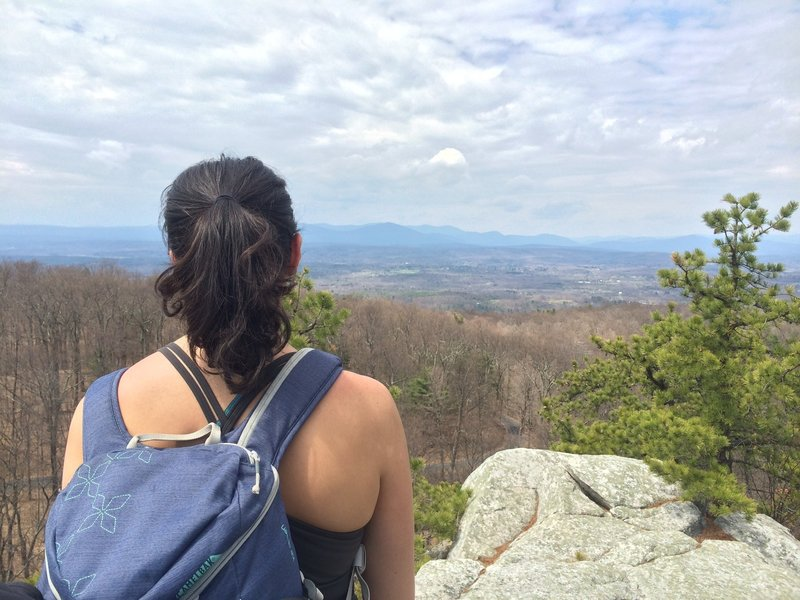 View of the Catskills from Bonticou Crag