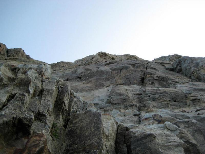 A sample of the scrambly terrain below El Diente's summit.