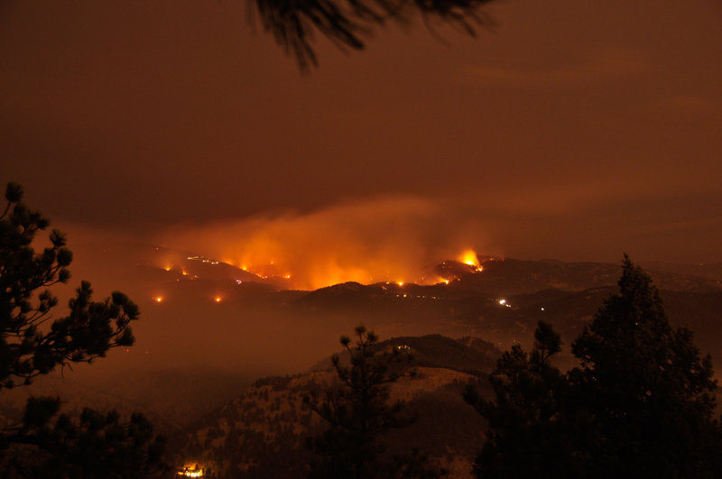 Scary views of the Fourmile Fire of September 2010.