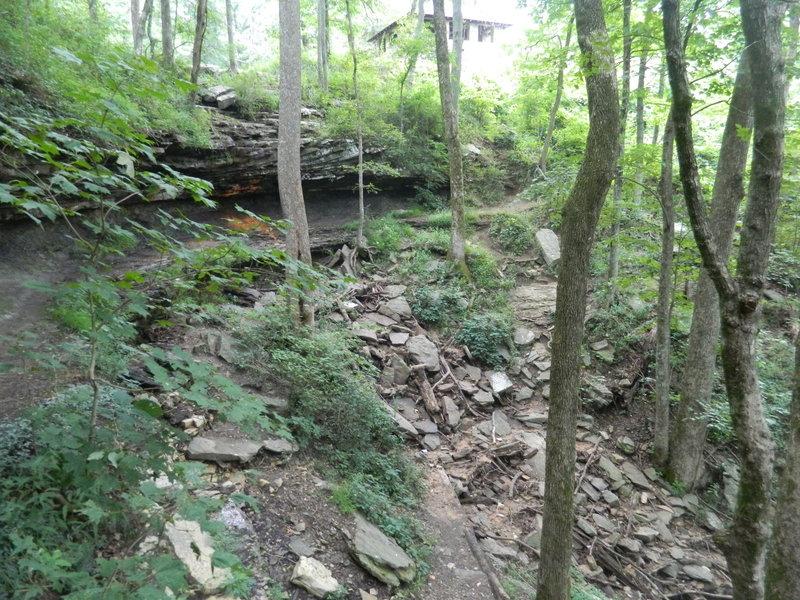 Nice limestone rock formation near the primitive lodge