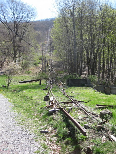 Remnants of the railway.