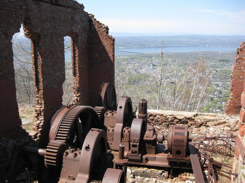 View of the Hudson and Beacon from the railway machine room at the south summit.