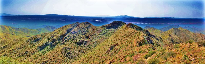 Wasson Peak Trail Panorama
