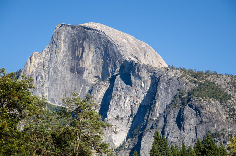Half Dome from the Lower Yosemite Falls Trail.
