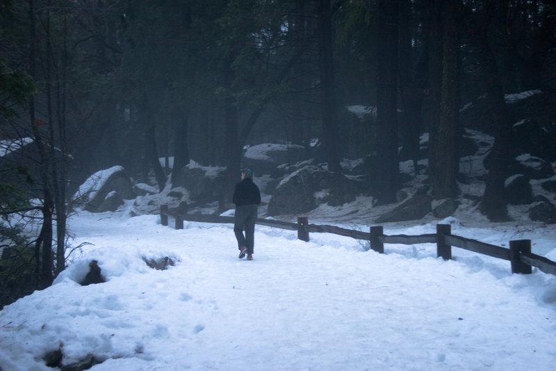 A beautiful walk back