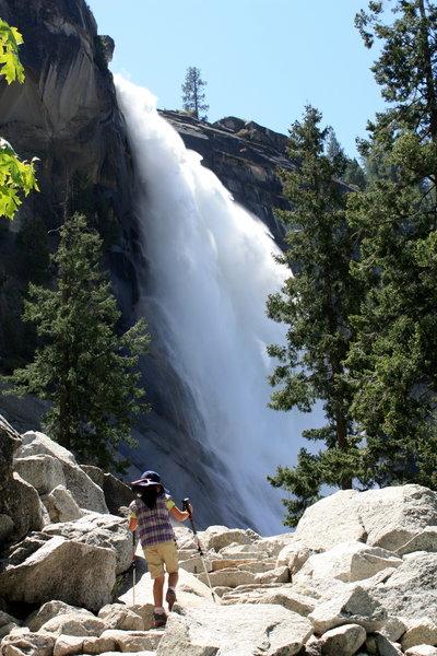 Young Hiker Approaching Nevada Falls, Yosemite National Park